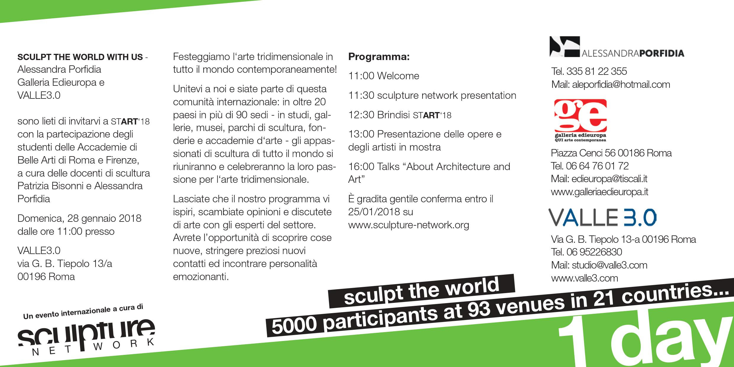 sculpt the world with us invito