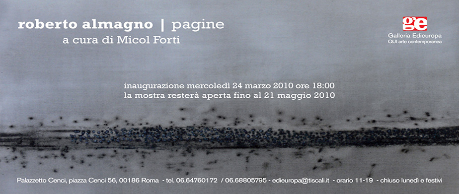 Pagine - Roberto Almagno - invito
