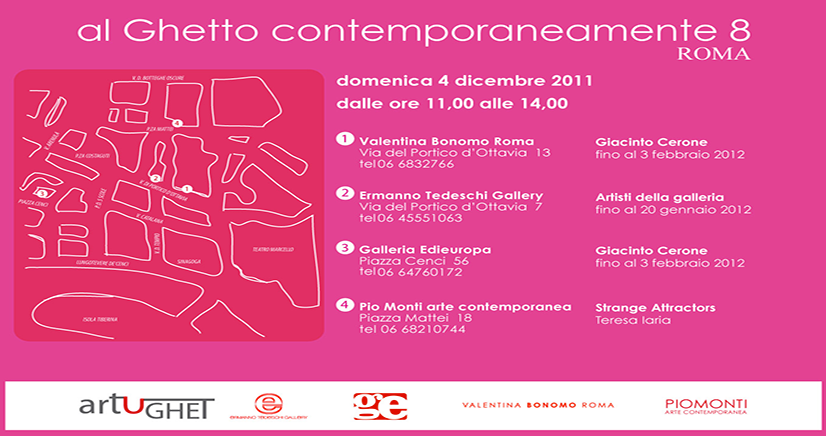 Invito al ottavo evento di ArtUGhet, AL-GHETTO-CONTEMPORANEAMENTE 8
