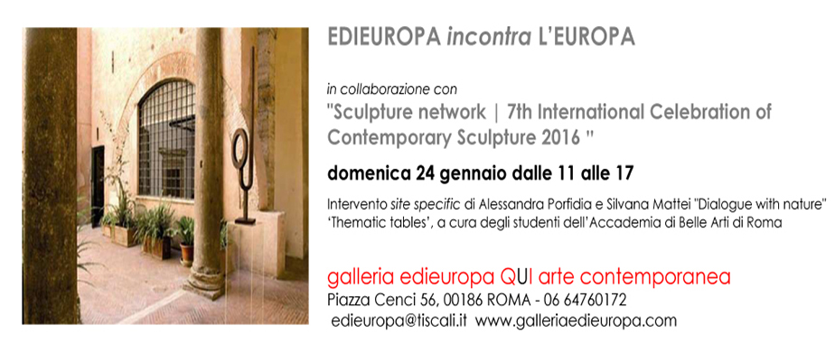 L'Edieuropa incontra l'Europa - sculpture network invitation