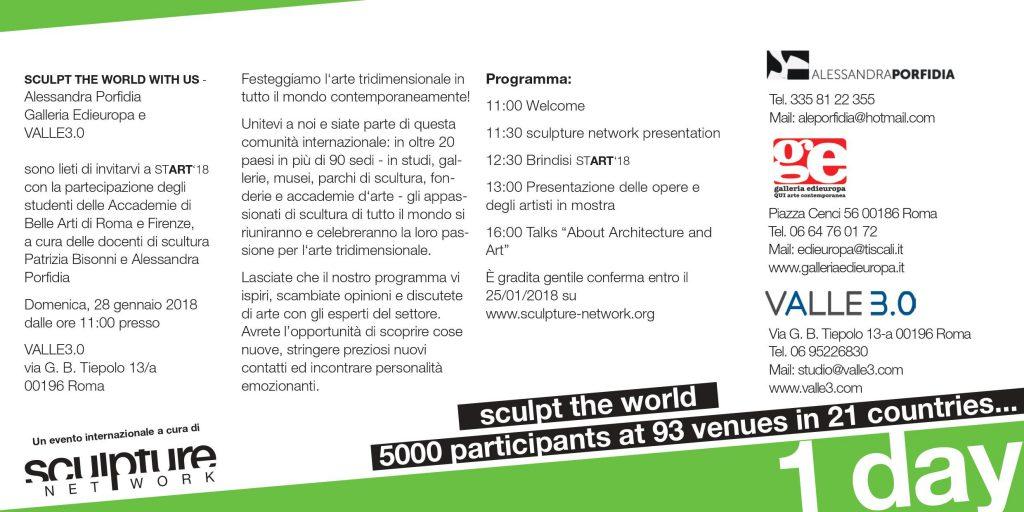 start '18 – Festa Internazionale della Scultura Contemporanea invito