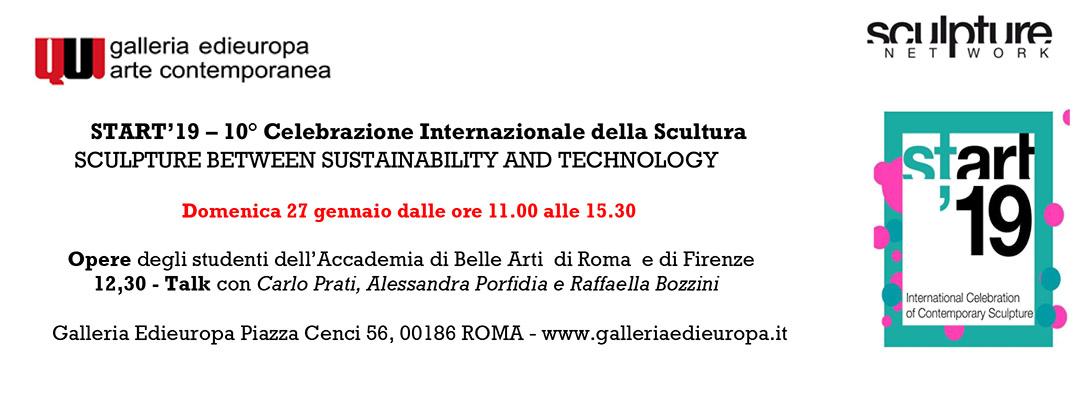 START'19 – 10° Celebrazione Internazionale della Scultura invito