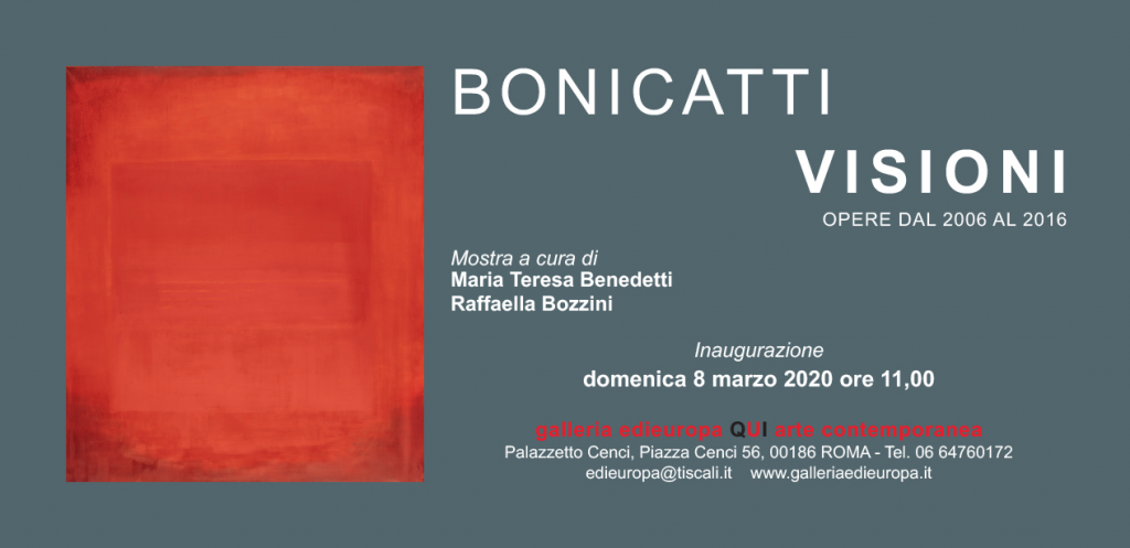 invito mostra CORRADO BONICATTI - VISIONI